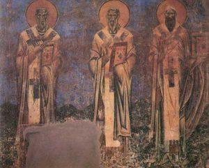 Свв. Мефодий, Кирилл Философ и Кирилл Александрийский. Курбиново
