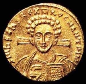 Солид Юстиниана II. Второе правление (705-711 гг.)