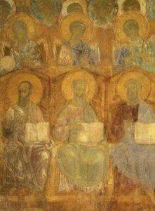 Страшный Суд. Апостолы и ангелы. Димитриевский собор
