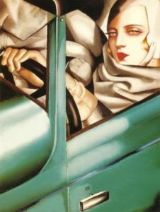 Т. Лемпицка. Автопортрет, Тамара в зеленом бугатти (1929).