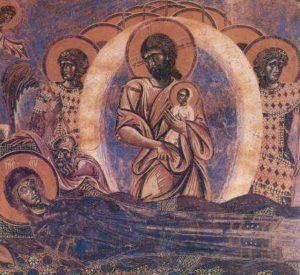 Успение. Христос и Богоматерь. Курбиново