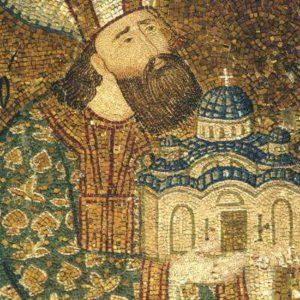 Феодор Метохит перед Христом. Фрагмент. Монастырь Хора