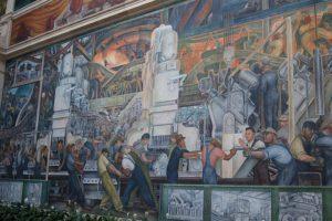 Часть росписи «Детройт Индустрия» Диего Ривера в Детройтском институте искусств (1932-33)