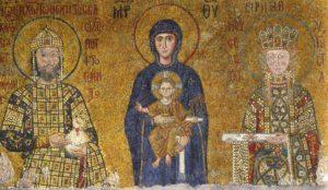 Южная галерея. Богоматерь с императором Иоанном Комнином и императрицей Ириной. София Конст