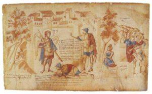 Явление Архангела Михаила Иисусу Навину у стен Иерихона. Свиток Иисуса Навина
