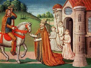 Карл Великий и папа Адриан I