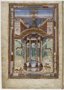 Фонтан жизни, f.6v. Евангелие св. Медарда из Суассона