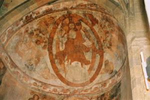 Христос-Панткратор. Фреска в Мюстайре