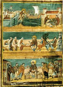 Folio 3v. Сцены из жизни Святого Иеронима