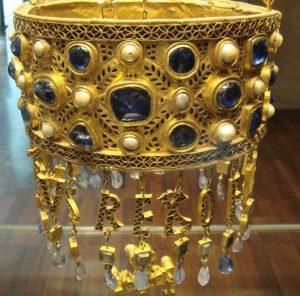 Вотивная корона короля Рецезвинта, VII в. Мадрид, Национальный археологический музей