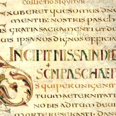 Галликанский Миссал (Missel gallican ) VIII в., Франция \ Ватиканская апостолическая библиотека, Pal. lat. 493