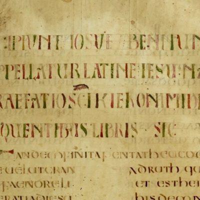 Библия, VIII в., Корби-Лион? \ BNF, NAL 1740