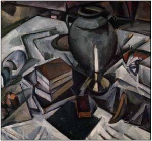 А. В. Куприн. Натюрморт с книгами и свечой. 1911–1912