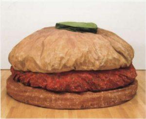 Клас Ольденбург. Напольный гамбургер. 1962