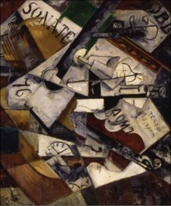 Н. А. Удальцова. Натюрморт с музыкальными инструментами. 1915