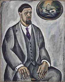 Пётр Кончаловский. Автопортрет в сером, 1911 год