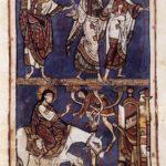 Сакраментарий св. Стефана Лиможского , въезд Христа в Иерусалим