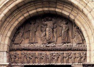 Сен-Сернен в Тулузе. Вознесение Христа; апостолы. Портал Мьежвиль