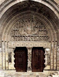 Сен Пьер в Муассаке. Христос-Судия в окружении двадцати четырех апокалиптических старцев