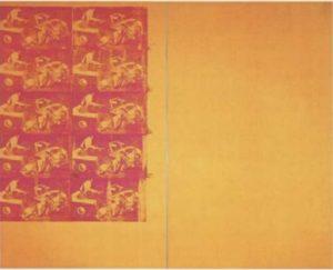 Энди Уорхол. Оpанжевая автoмo6ильнaя aвapия, 10 пoвтopeний. 1963