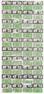 Энди Уорхол. 80 двухдолларовых банкнот. 1962