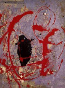 Джексон Поллок. Красный, черный и серебряный. 1956