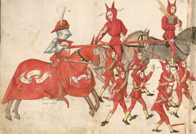 Турнирная книга и семейная хроника (Turnierbuch und Familienchronik). Аугсбург, 1506 — 1511 / Баварская библиотека, Cgm 1930