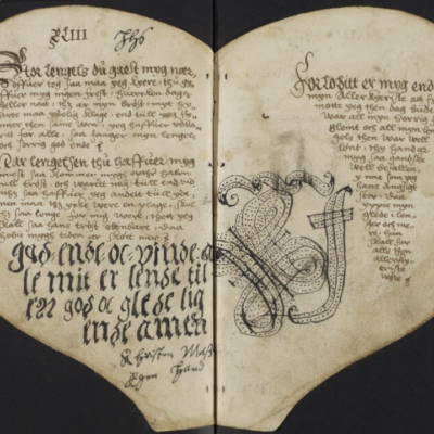 Книга Сердца (The Heart Book). Дания, 1550-е гг. / Королевская библиотека, Копенгаген, Thott 1510, 4º