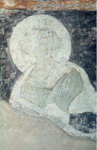 Пророк Даниил. Фреска купола в Успенском соборе на Городке в Звенигороде. Около 1400 г.