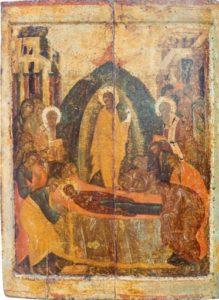 Успение. Первая треть XV в. Из праздничного ряда иконостаса Благовещенского собора Московского Кремля