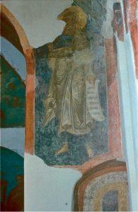Пророк Иона. Роспись церкви Преп. Сергия Радонежского на архиепископском дворе в Новгороде. Около 1463 г.