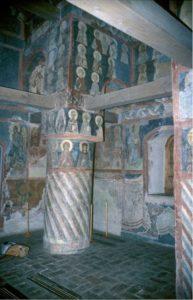 Церковь Симеона Богоприимца в Зверине монастыре в Новгороде. Интерьер. Около 1467 г