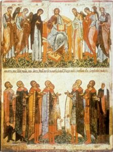 Деисусный чин и молящиеся новгородцы. 1467 г. Новгородский музей