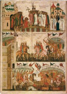 Чудо от иконы Богоматери. Знамение. XV век. Новгородский музей