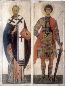 Свв. Никола и Георгий. Начало XV в. ГРМ