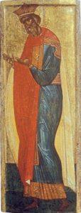 Св. князь Владимир. Из деисусного чина. Начало XV в. Из собрания И.С.Остроухова. ГТГ