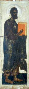 Апостол Марк. Около 1444 г. Из деисусного чина церкви Успения с Пароменья во Пскове. Псковский музей