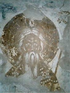 Пророк Аарон. Фреска церкви Успения в Мелетове. 1465 г.
