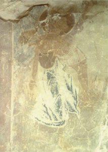 Христос несет благоразумного разбойника в Рай. Фреска церкви Успения в Мелетове. 1465 г.
