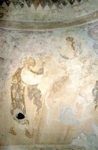 Явление Моисею неопалимой купины. Фреска церкви Успения в Мелетове. 1465 г.
