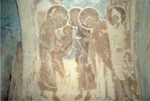 Сретение. Фреска церкви Успения в Мелетове. 1465 г.