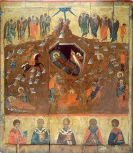 Рождество Христово. Середина XV в. Из церкви Покрова в Опочке. Псковский музей