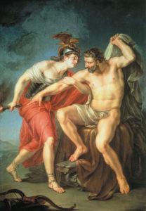 Акимов А.И. Самосожжение Геркулеса на костре в присутствии его друга Филоктета (1782)