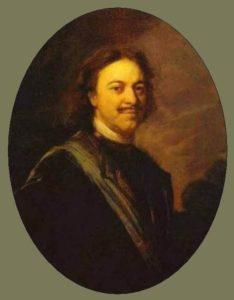 Матвеев А. Портрет Петра в овале. Ок. 1725, ГЭ