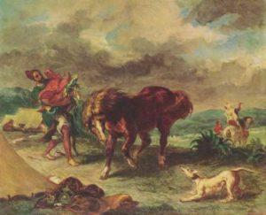 Делакруа. Марроканец и его конь