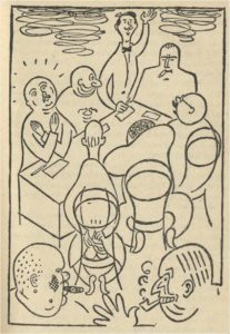 Йозеф Чапек. Иллюстрации к «Фабрике Абсолюта»,1922. Čapek, K. Továrna na absolutno / Il. J. Čapek. Praha: Československý spisovatel, 1962. 185 c.