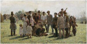 К.А. Савицкий. Беглый. 1883, холст, масло. ГТГ