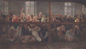 Касаткин. Арестантки на свидании. 1899