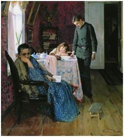 Корин А.М. Опять провалился. 1891, холст, масло