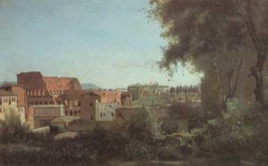 Коро. Рим, Колизей и сады Фарнезе